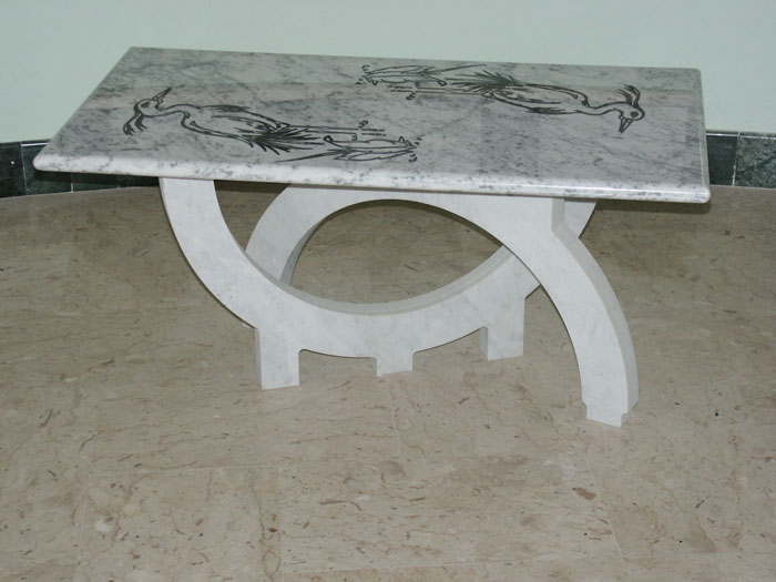 Coffee Table in Marble Bianco Carrara