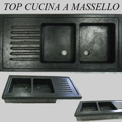 R g service s r l lavorazione e commercializzazione marmo graniti pietre materiali - Top cucina pietra lavica ...