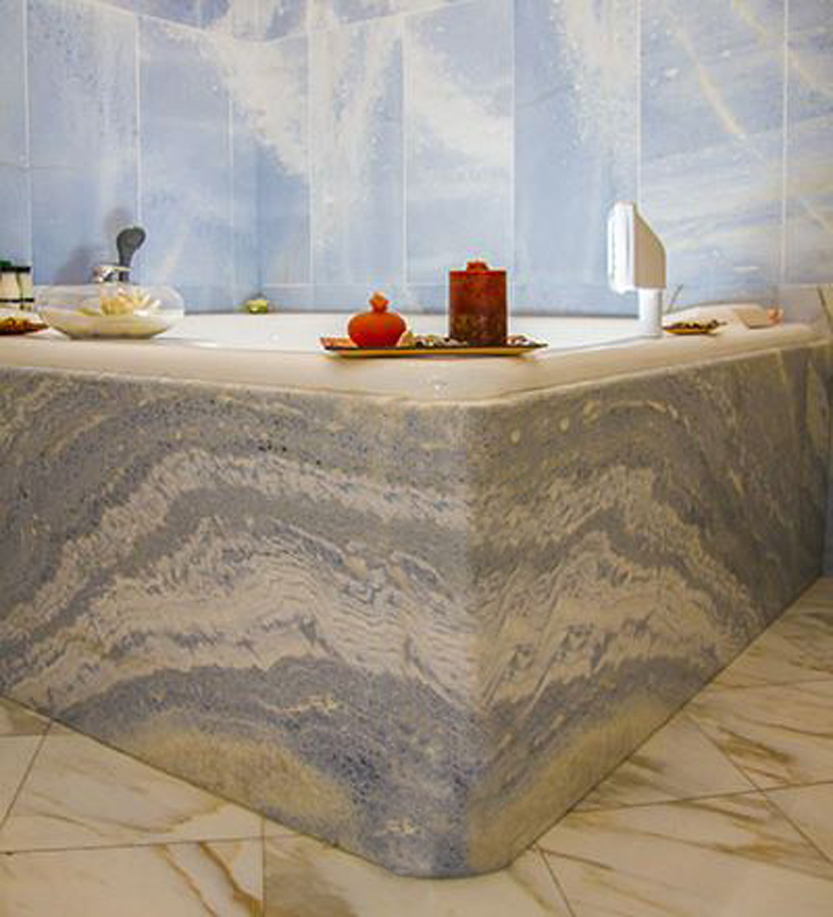 Bathroom in Azul Marble